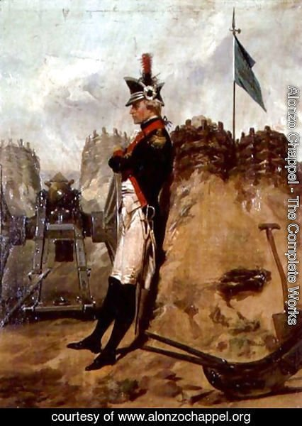 Alonzo Chappel - Alexander Hamilton (1757-1804) in the Uniform of the New York Artillery