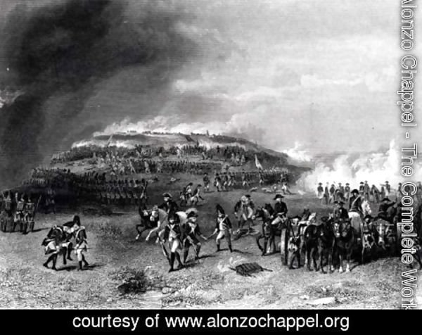 Alonzo Chappel - Battle of Bunker's Hill, 17th June 1775