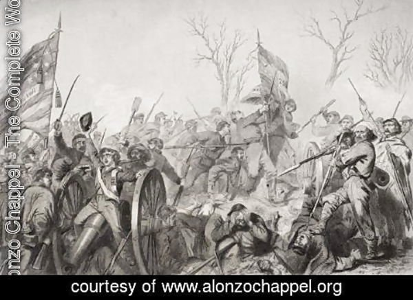 Alonzo Chappel - Capture of the Confederate flag at the Battle of Murfreesboro in 1862