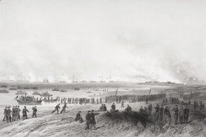 Alonzo Chappel - Landing the troops during the bombardment of Fort Fisher, North Carolina 1864