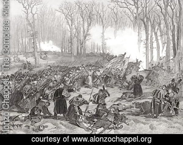Alonzo Chappel - The Battle of Mill Creek, Kentucky, 1862