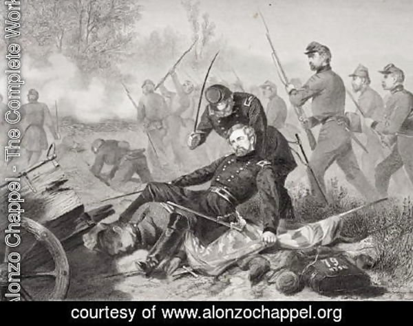 Alonzo Chappel - Death of General Isaac Stevens (1818-62) during the attack on Chantilly, Viriginia 1862