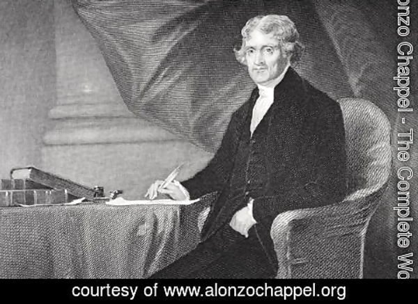 Alonzo Chappel - Portrait of Thomas Jefferson (1743-1826) (2)