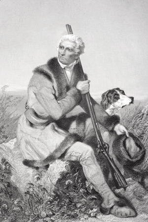 Alonzo Chappel - Portrait of Daniel Boone (1734-1820)