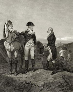 Alonzo Chappel - First meeting of George Washington and Alexander Hamilton, from 'Life and Times of Washington', Volume I, 1857