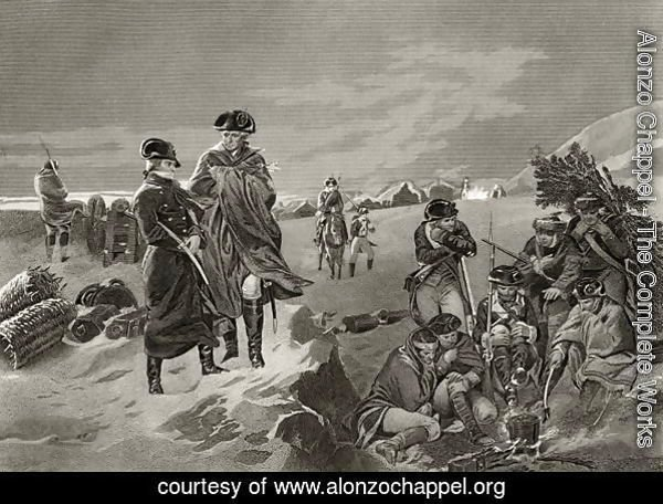 George Washington and Lafayette at Valley Forge, from 'Life and Times of Washington', Volume I, 1857