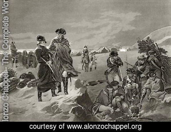 Alonzo Chappel - George Washington and Lafayette at Valley Forge, from 'Life and Times of Washington', Volume I, 1857