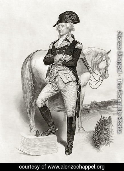 George Washington in 1775, from 'Life and Times of Washington', Volume I, 1857