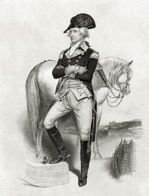 Alonzo Chappel - George Washington in 1775, from 'Life and Times of Washington', Volume I, 1857