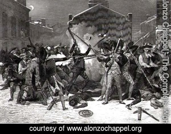 Alonzo Chappel - The Boston Massacre, 5th March 1770