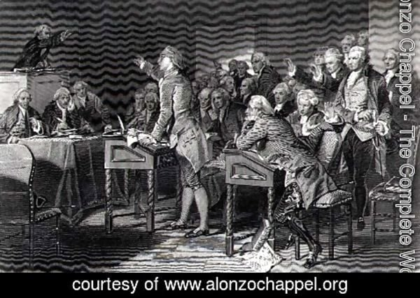 Alonzo Chappel - Patrick Henry addressing the Virginia Assembly, March 1775, 1856