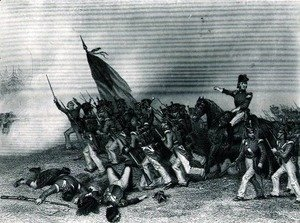 Alonzo Chappel - The Battle of Chippewa, General Scott Ordering the Charge of McNeil's Battalion, 5th July 1814