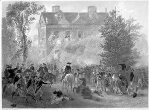 The Battle of Germantown at Chew House in 1777, c.1860