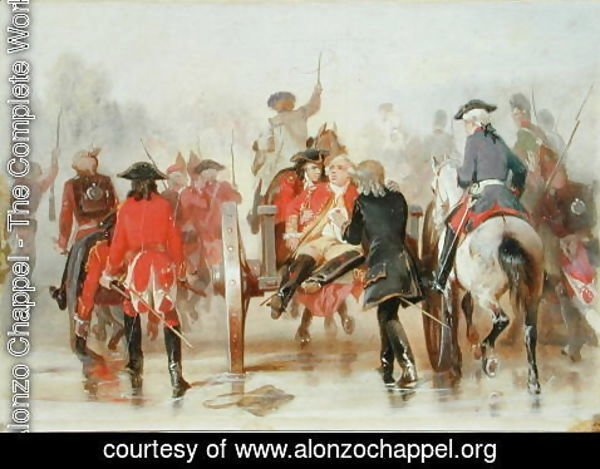 Alonzo Chappel - Braddock's Retreat on 9th July 1755, 1865