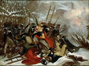 Alonzo Chappel - Death of General Richard Montgomery on 31st December 1775, 1865