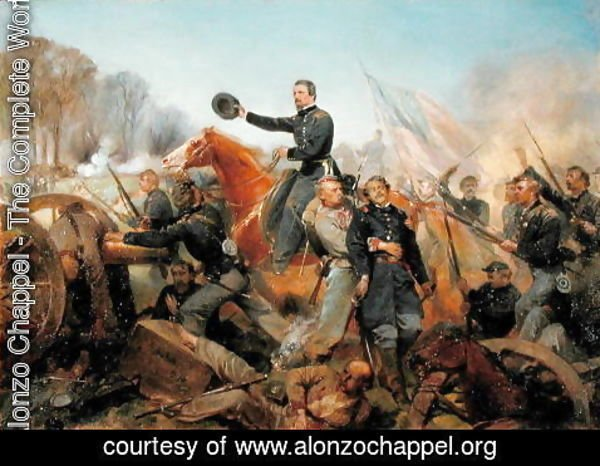 Alonzo Chappel - Battle of the Wilderness, Attack at Spotsylvania Court House, Virginia, 1865