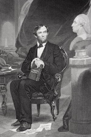 Alonzo Chappel - Portrait of Abraham Lincoln (1809-65)