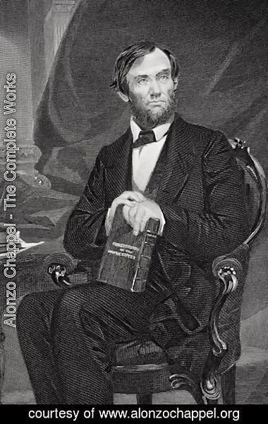 Alonzo Chappel - Portrait of Abraham Lincoln (1809-65) 2