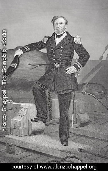Alonzo Chappel - Portrait of Admiral Andrew Hull Foote (1806-63)