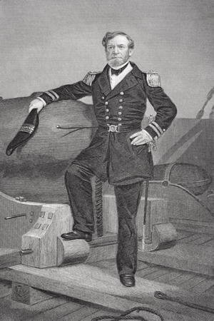 Portrait of Admiral Andrew Hull Foote (1806-63)